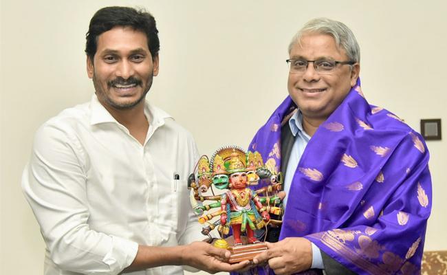 SBI MD Arijit Basu Meets AP CM YS Jagan Mohan Reddy - Sakshi