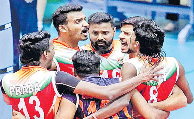 Indian Team Entered The Quarterfinals of The Volleyball Championship - Sakshi