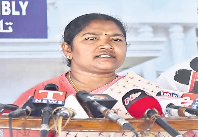 MLA Sitakka Demands TRS Government to Respond On Uranium Mining - Sakshi