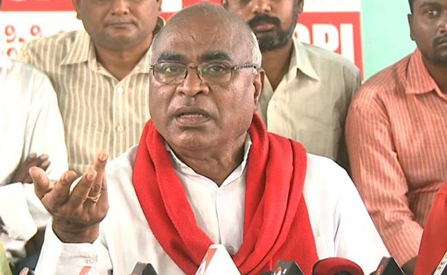 CPI Chada Venkat Reddy Visits Karimnagar - Sakshi