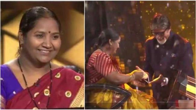 Babita Tade Cook Mid Day Meal Second Crorepati In KBC 11 - Sakshi