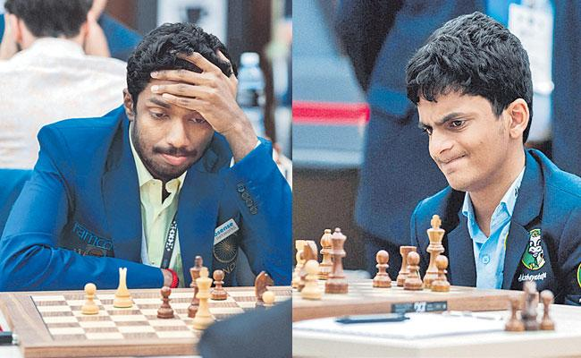 Nihal Sarin and Adhiban Eliminated From World Cup Chess Tournament - Sakshi