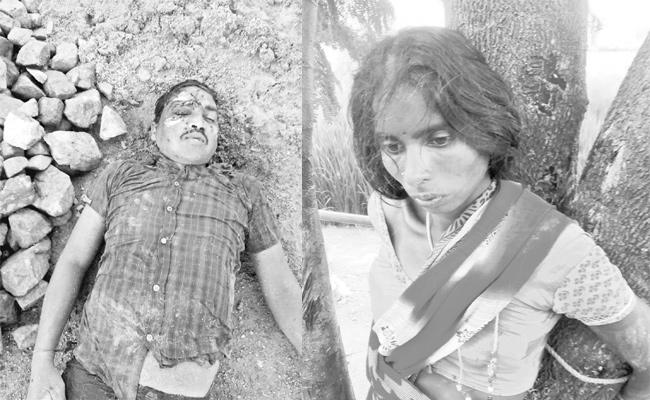 Wife Killed Husband in Rangareddy - Sakshi