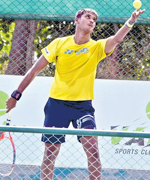 Theertha Shashank in Pre Quarters Of AITA Tourney - Sakshi
