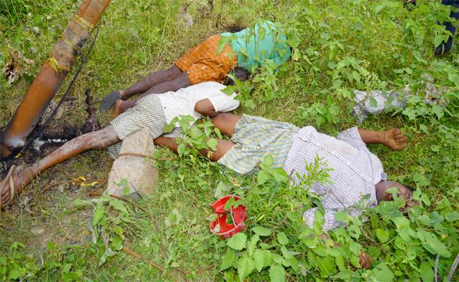 Farmers Died Due To Electrocution In Machareddy At Kamareddy - Sakshi
