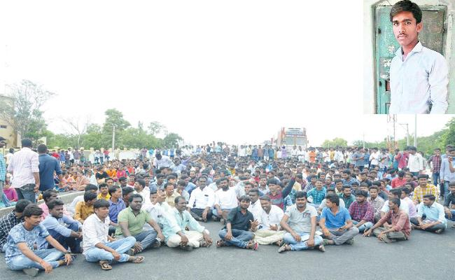 SKU Student Died in Lorry Accident Anantapur - Sakshi