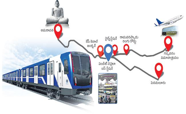 AP Government plan on Vijayawada metro rail project - Sakshi