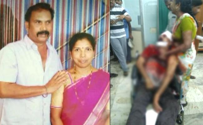 Unknown People Attacked Husband And Wife In Narsampet - Sakshi