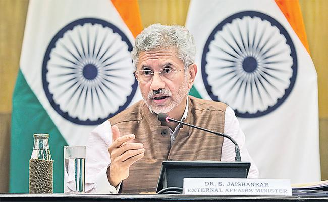 Foreign Minister S Jaishankar says pok is part of india - Sakshi