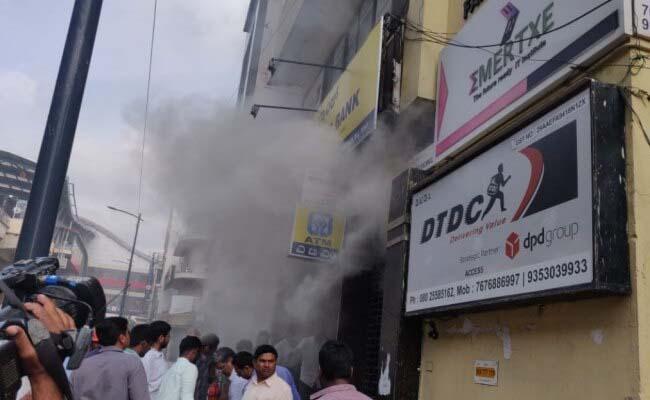 Major fire at UCO bank in Bangalore no injuries - Sakshi