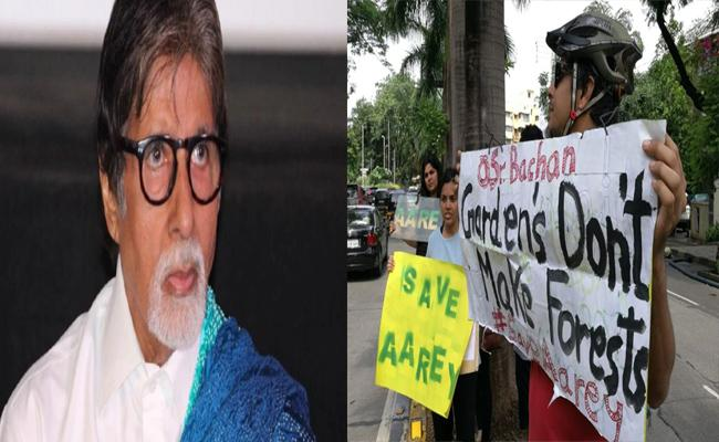 Amitabh Bachchan Supports Mumbai Metro Activists Protest Outside His Home - Sakshi