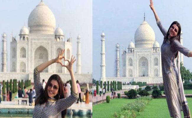 Kajal Agarwal First Time Visit To Taj Mahal Shares Pics - Sakshi