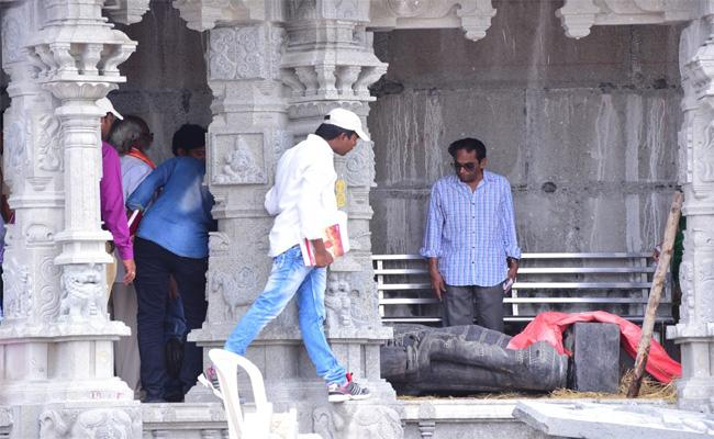 YTDA Chairman Kishan Rao Inspected the Work of Yadadri Temple - Sakshi