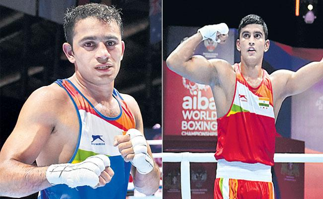 Amit Panghal And Manish And Kaushik cruise into quarterfinals - Sakshi