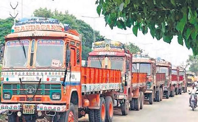Lorries band across the country on 19-09-2019 - Sakshi