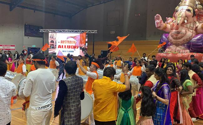 Ganesh Chaturthi Celebrations held in Australia - Sakshi