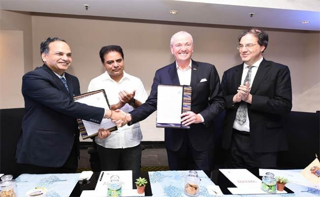 Telangana Government Has Signed Agreements With State Of New Jersey - Sakshi