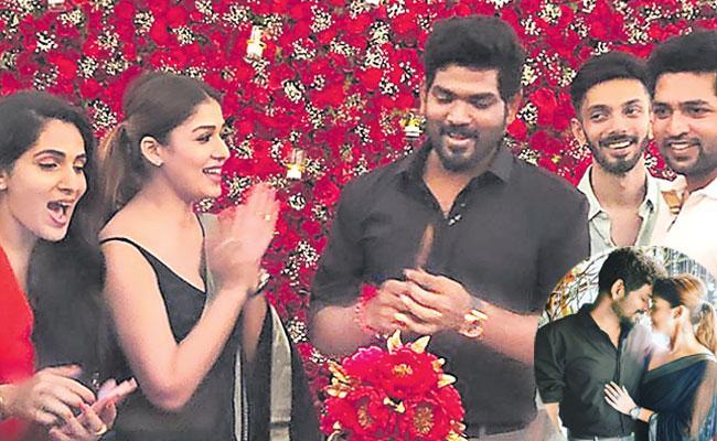 Nayanthara Throws Surprise Birthday Bash For Beau Vignesh Shivan - Sakshi