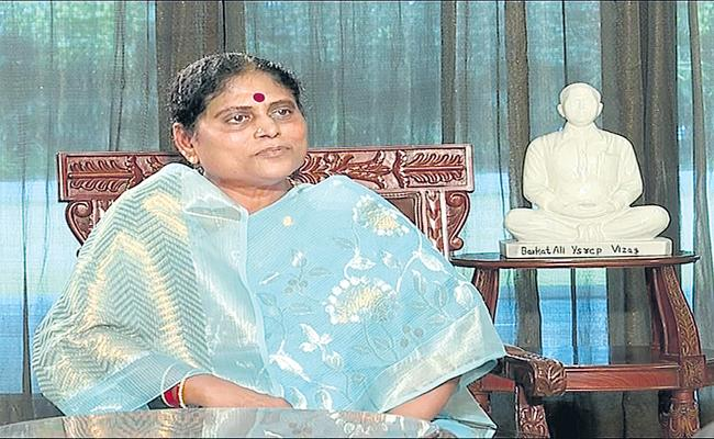 YSRCP Honorary President YS Vijayamma Exclusive Interview - Sakshi
