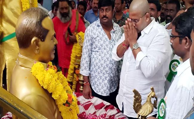 YSRCP MLA Jakkampudi Raja Tribute To YSR - Sakshi