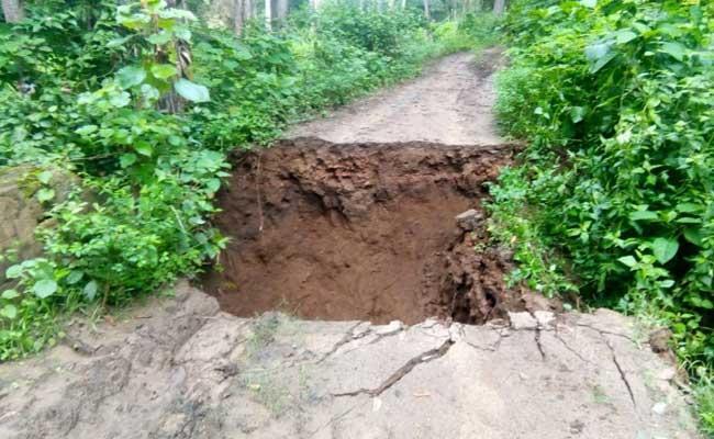 Bridge That Washed Away The Heavy Rains In Visakha District - Sakshi