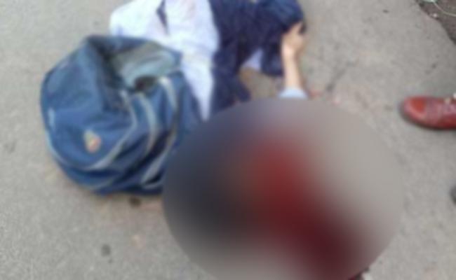 Student Killed In Visakha Bus Accident - Sakshi
