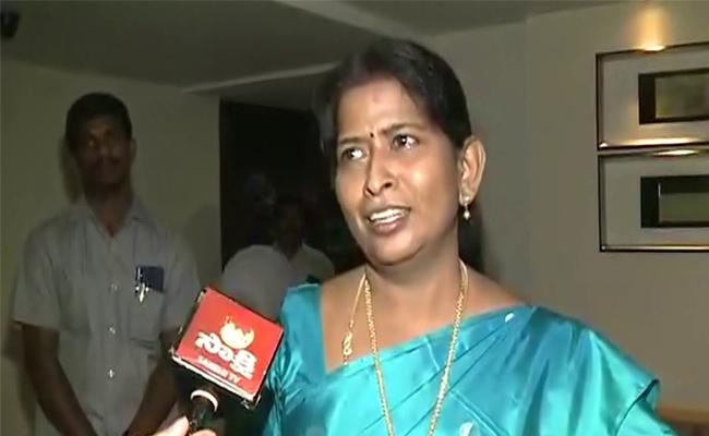 Taneti Vanitha Comments On Disabled Pension Supply  - Sakshi