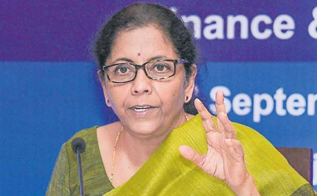 Nirmala Sitharaman cuts corporate taxes for domestic - Sakshi