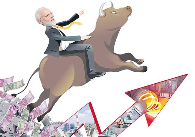 Market celebrates corporate tax cut with biggest rally in 10 years - Sakshi