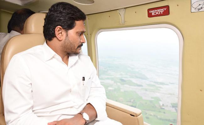 CM YS Jagan Conduct Aerial Survey In Nandyal - Sakshi