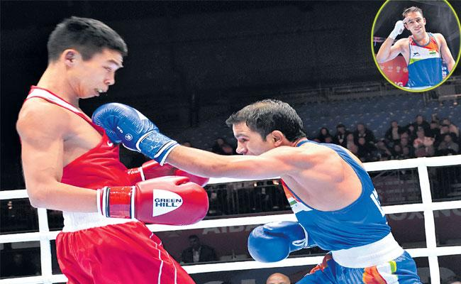 Amit Panghal First Indian Male Boxer To Reach World Championship Final - Sakshi