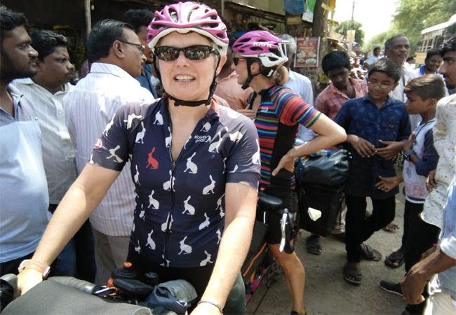England Women Cyclists Came Parchuru Prakasam - Sakshi