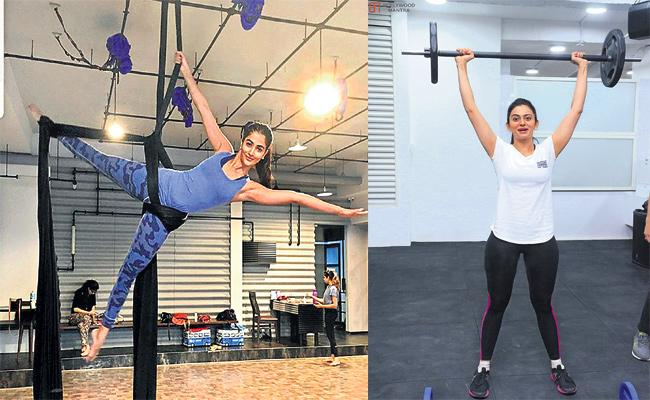 Tollywood Heroines Fitness Freaks in instagram - Sakshi