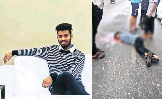 Engineering Student Died in Bike Accident While Triple Riding - Sakshi