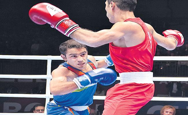 Amit Panghal Gets Historic Silver At World Boxing Championships - Sakshi