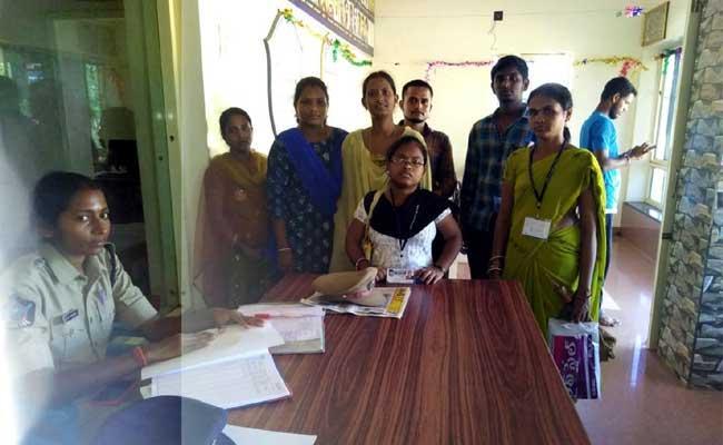 TDP Leader Rash Behavior On Village Volunteers - Sakshi