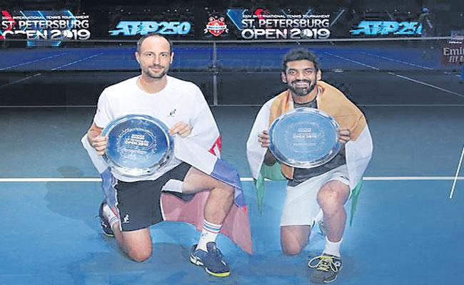 Divij Sharan Bags St.Petersburg Open Doubles Title - Sakshi
