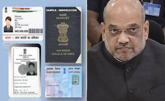 Home Minister Amit Shah Moots Idea Of Multipurpose Card - Sakshi