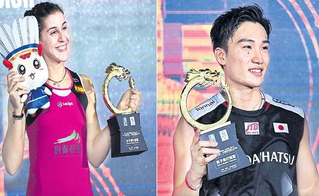 Carolina Marin Beats Tai Tzu Ying in Final to Win Title on Injury Return - Sakshi