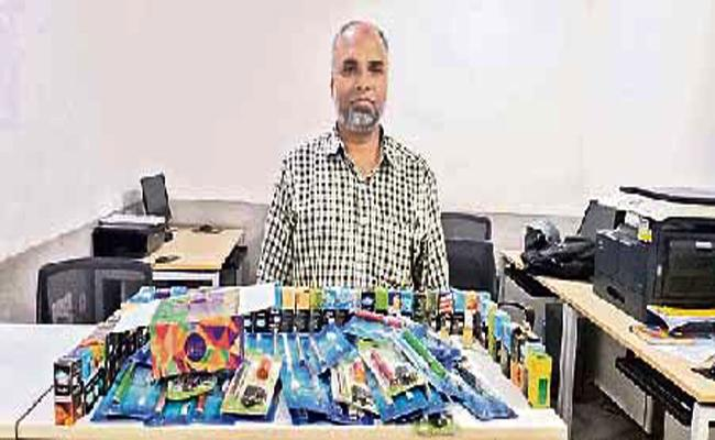 First Case File Against Electronic Cigarettes in Hyderabad - Sakshi