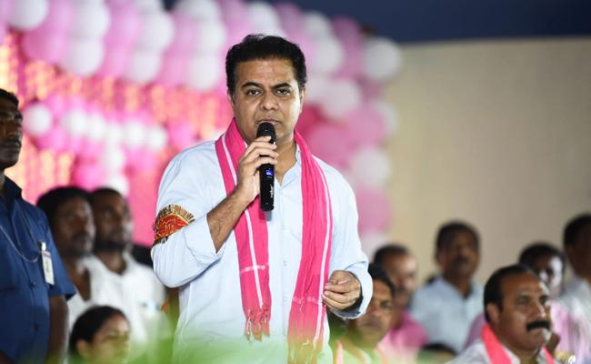 Minister KTR At a Meeting of TRS Activists at Nalgonda Dist - Sakshi