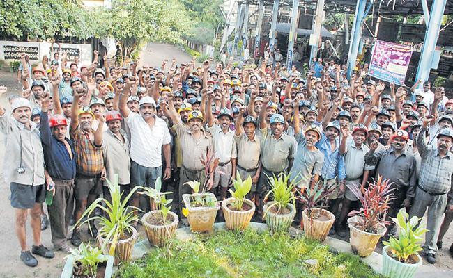 Telangana Singareni Workers To Go On Strike Today - Sakshi