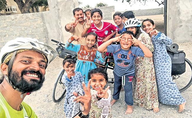 Software Engineer Bicycle Tour in 13 Countries - Sakshi