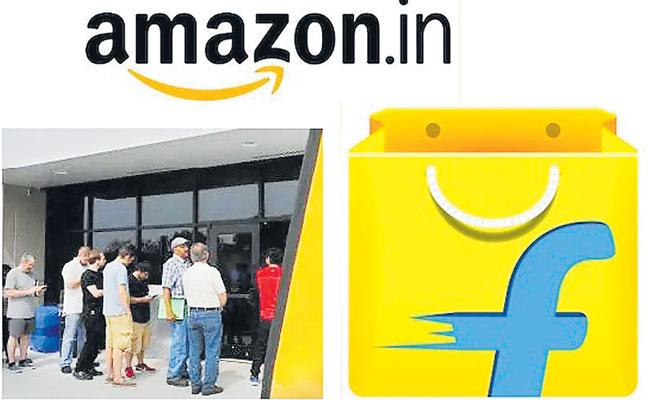 Amazon And Flipkart Create over 1.4 Lakh Temporary Jobs Ahead Of Festive Sales - Sakshi