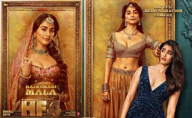 Akshay Kumar Shared Pooja Hegde Character Poster From House Full 4 - Sakshi