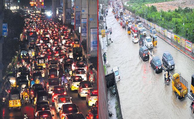 Heavy Rain Hits Hyderabad - Sakshi