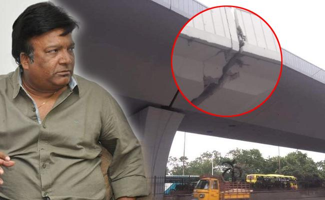 Kona Venkat Tweet Damaged Condition of the PVNR Expressway - Sakshi