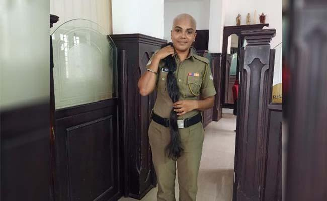 Meet the Kerala cop who donated her hair for cancer patients - Sakshi