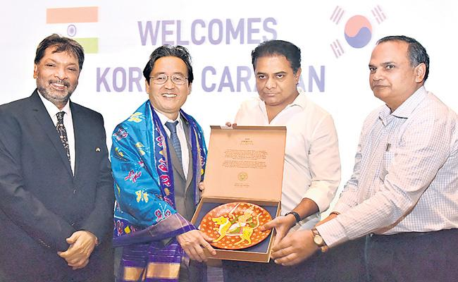 South Korea Ambassador Shin Bongkil Meets KTR - Sakshi