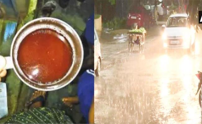 Red Colour Water Rain in Tamil nadu - Sakshi